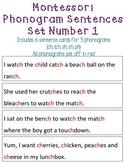 Montessori Phonogram / Phonics Sentences Set Number 1