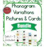 Montessori Phonogram Variations Picture Words & Cards BUNDLE