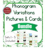 Montessori Phonogram Variations Picture & Word  Cards BUNDLE