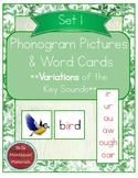 Montessori Phonogram Variations Pictures & Words Set 1