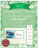 Montessori Phonogram Variations Pictures & Words Set 2