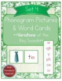Montessori Phonogram Variations Pictures & Words Set 4