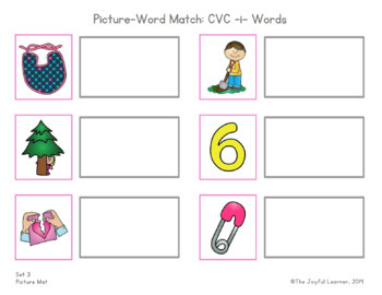 Picture-Word Match: CVC -i- Words