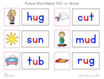 Picture-Word Match: CVC -u- Words