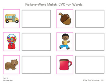 Picture-Word Match: CVC -u- Words