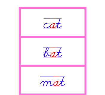 Montessori Picture to Word Matching (Print & Cursive)
