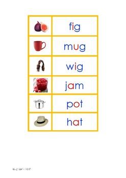 Montessori Picture to Word Matching (Print & Cursive) - ORANGE