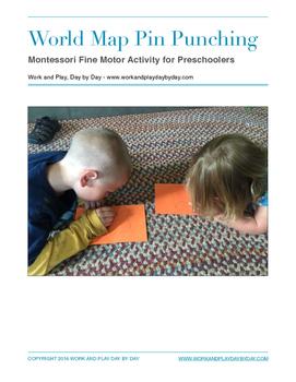 Montessori Pin Punching:  World Map