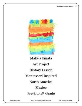 Montessori Pinata History Art Lesson Mexico Pre-K Primary Continent