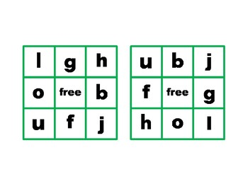 Montessori Pink Language Bingo Game beginning sounds