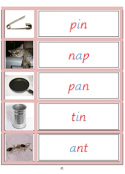Montessori Pink Language materials