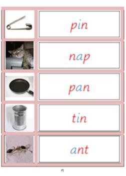 Montessori Pink Language materials