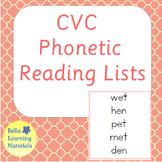 Montessori Pink Reading Lists