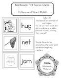 Montessori Pink Reading Series - Picture And Word Match -