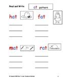 Montessori Pink Scheme Phonics CVC words writing worksheets