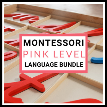 125+ Pages of Montessori Pink Series Language Activities Pack