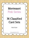 Montessori Pink Series CVC word cards Print font