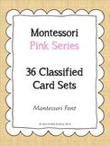 Montessori Pink Series CVC word cards Montessori font