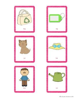 Montessori Pink Series Rhyming Cards Worksheets ChutesnLadders