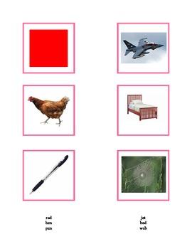 Montessori: Pink Series Short Vowel Pictures