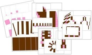 Pink Tower & Broad Stair Pattern Cards Bundle - Montessori