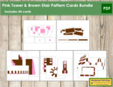 Pink Tower & Broad Stair Pattern Cards Bundle - Montessori