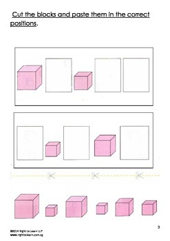 Montessori Pink Tower Worksheets