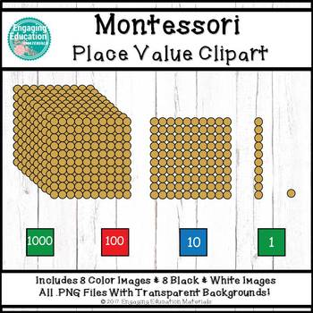 montessori place value clip art by engaging education materials tpt rh teacherspayteachers com