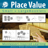 Montessori Math Place Value with Golden Beads Small and Large Booklets
