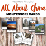 Montessori Places in China 3 part cards