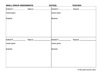 Montessori Classroom Forms (includes Word & PDF files for most forms)