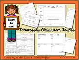 Montessori 3-6 yr Classroom Forms (includes Word & PDF files)