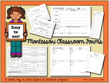 Montessori Classroom Forms (includes Word & PDF files for