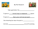 Montessori Plant Research Template