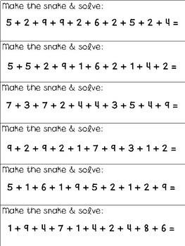 Montessori Positive Snake Game