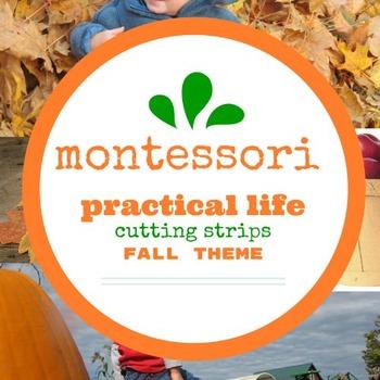 Montessori Practical Life Cutting Strips - FALL Theme