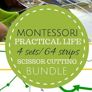Montessori Practical Life Scissor Cutting Strips Pack