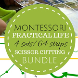 Montessori Practical Life Scissor Cutting Strips Pack