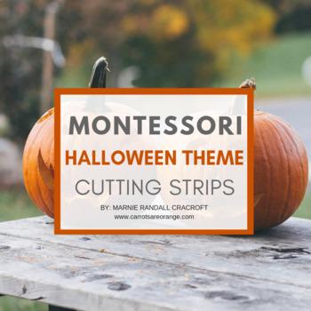 Montessori Practical Life Scissor Cutting Strips - HALLOWE