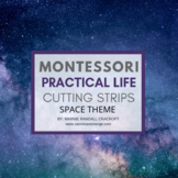 Montessori Practical Life Scissor Cutting Strips - SPACE Theme