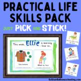 Montessori Practical Life Skills   Pick & Stick Pack   Age 2-6
