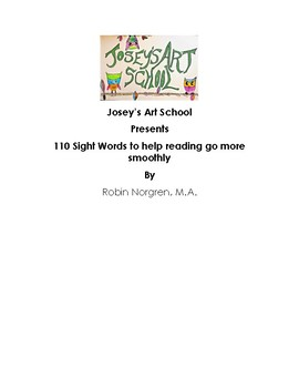 Montessori Primary Reading 110 Sight Words to help reading go more smoothly