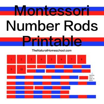 Montessori Printable Number Rods