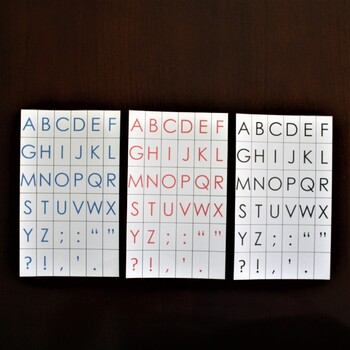 Montessori: Movable Alphabet Cards