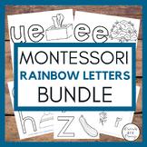 Montessori  - RAINBOW LETTERS BUNDLE  - FIVE THEMATIC SETS
