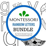 Montessori  Writing - Rainbow Letters Bundle