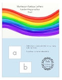 Montessori - Rainbow Letters - Practice Writing - Print