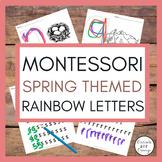 Montessori Rainbow Letters - Spring Themed