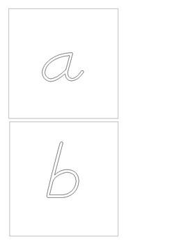 Montessori - Rainbow Letters - Writing Practice - D'Nealian