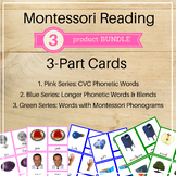 Montessori Reading 3-Part Cards